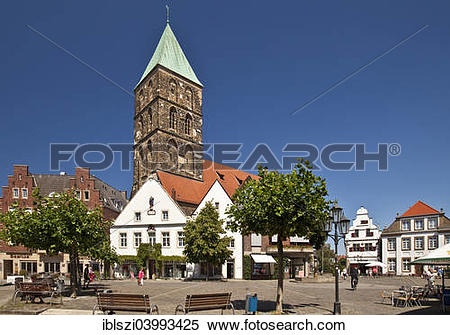 "Stock Image of ""Historical market square with Church of St."