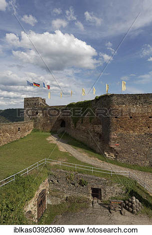 "Stock Photography of ""Inner bailey with clock tower, Burg."