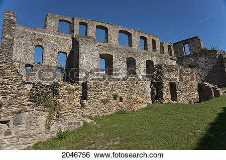 Stock Images of Rheinfels Castle; Sankt Goar.
