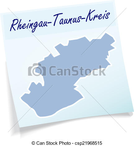 Vector Clip Art of Map of Rheingau.