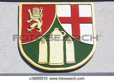 Stock Photography of The Village Emblem of Hillscheid; Hillscheid.