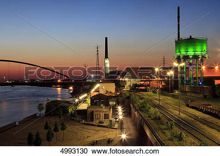Stock Photography of RheinPark, Hochfeld, Duisburg, North Rhine.