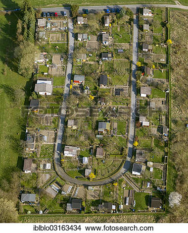 "Stock Photo of ""Allotment gardens on Leopold."