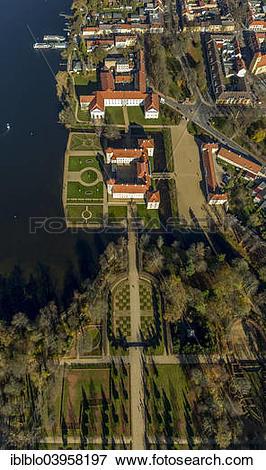 "Picture of ""Aerial view, Schloss Rheinsberg Castle, Grienericksee."
