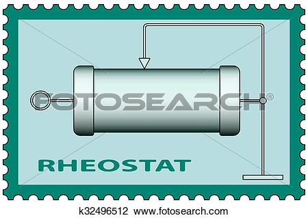 Clipart of Rheostat on stamp k32496512.