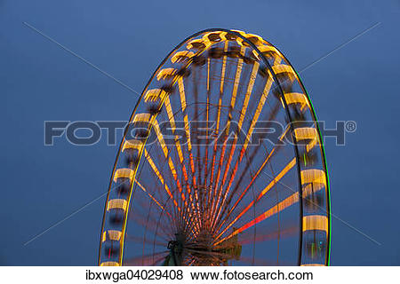 "Pictures of ""Ferris Wheel, fun fair at the Deutz bank of the Rhine."