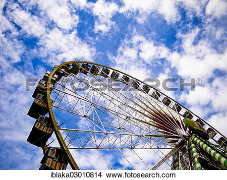 "Stock Photo of ""Ferris wheel, Cranger Kirmes fair, Herne, Herne."