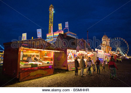 Sweet Shop Stall At A Funfair Stock Photo, Royalty Free Image.