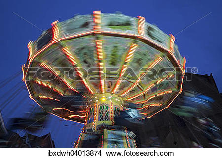 "Stock Photo of ""Chairoplane, Allerheiligenkirmes fair, Soest."