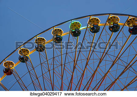 "Picture of ""Ferris Wheel, fun fair at the Deutz bank of the Rhine."
