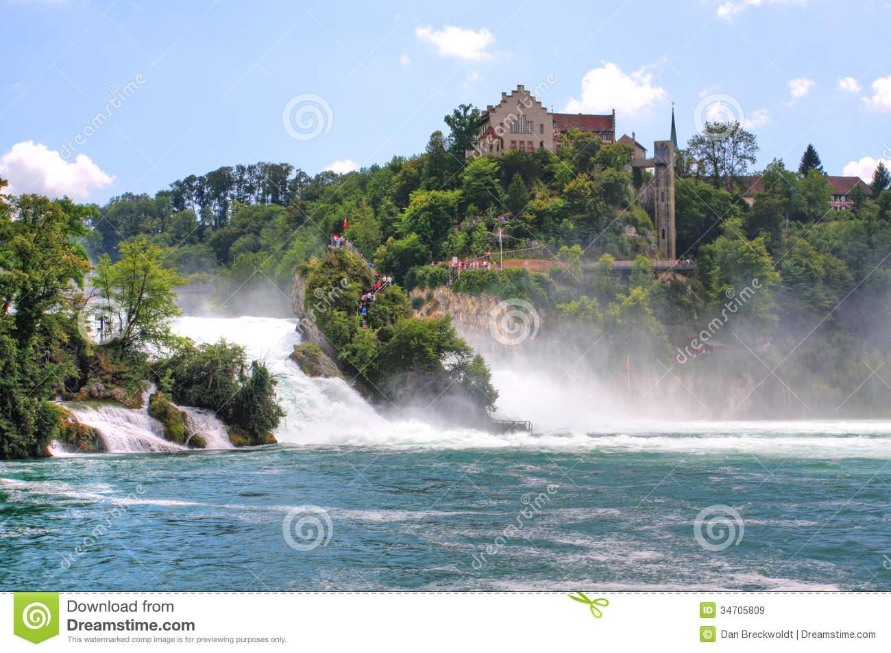 The Rhein Falls Near Schaffhausen In Switzerland Royalty Free.