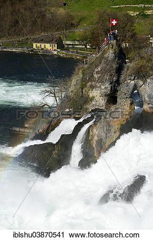 "Stock Photography of ""Rhine Falls, Canton of Schaffhausen."