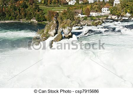 Stock Image of Rhine Falls.