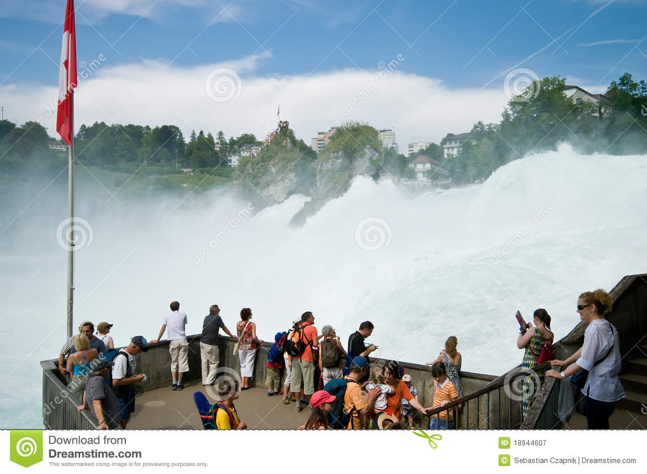 Rhine Falls Editorial Stock Photo.