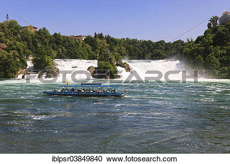 """Stock Photography of """"The Rhine Falls at Schaffhausen, Canton of."""
