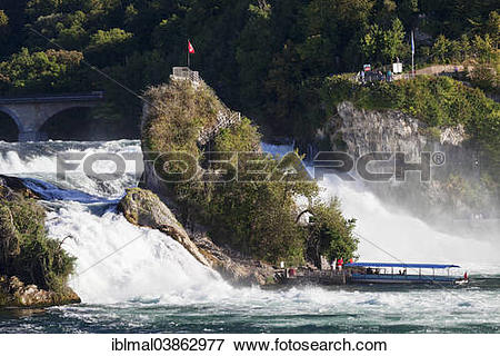 """Picture of """"Excursion boat on the Rhine Falls, at Schaffhausen."""