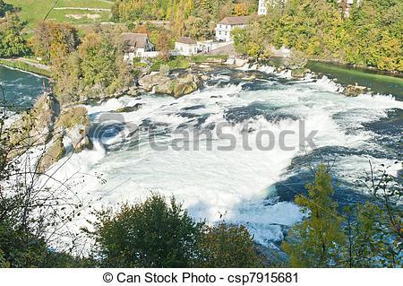Stock Photography of Rhine Falls.