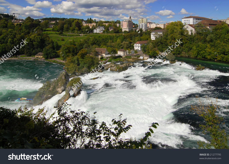 Rhine Falls In German Language Rheinfall Stock Photo 21277795.
