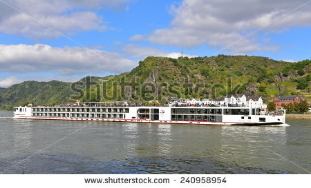 Rhine River Cruise Stock Photos, Royalty.