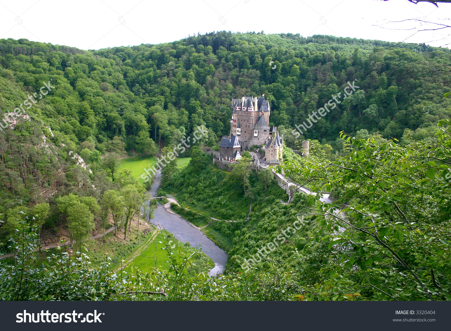 Old Castle Rhine River Valley Germany Stock Photo 3320404.