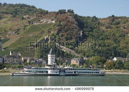 Rhine River Cruise Stock Photos, Royalty.