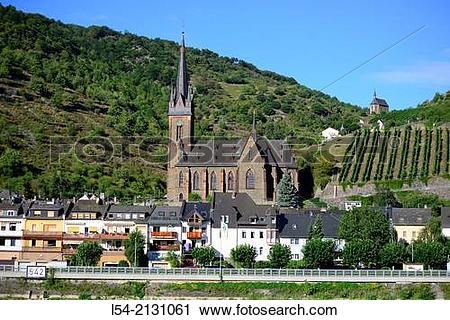 Stock Photography of Rhine River Valley Kaub Germany Europe.