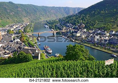 Stock Photo of Mosel River Cochem Germany DE Europe River Cruise.