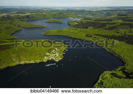 Stock Images of Rur Reservoir, Rur Dam, Simmerath, Eifel, North.