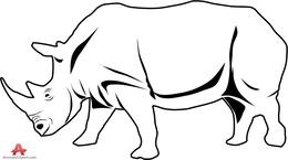 White Rhinoceros clipart.