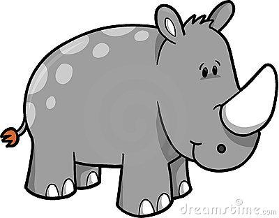 65+ Rhino Clip Art.