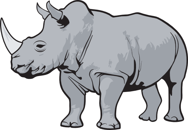 Rhino Gray Clip Art at Clker.com.