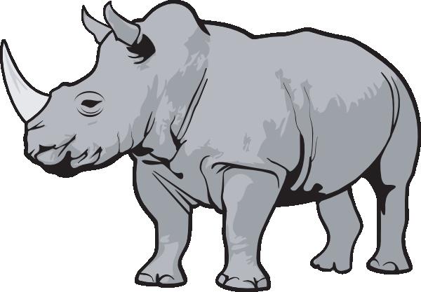 Rhino Gray Clip Art at Clker.com.