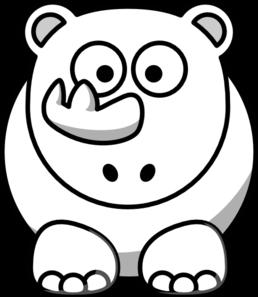 Rhino Outline Clip Art at Clker.com.