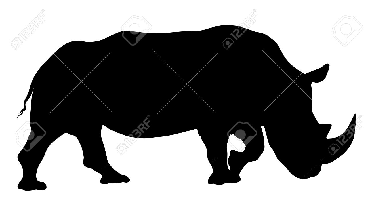 575 Rhino Outline Stock Vector Illustration And Royalty Free Rhino.