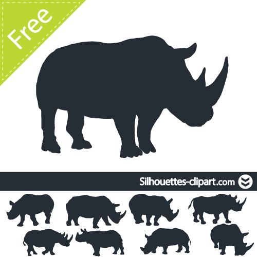 Rhino vector silhouette.