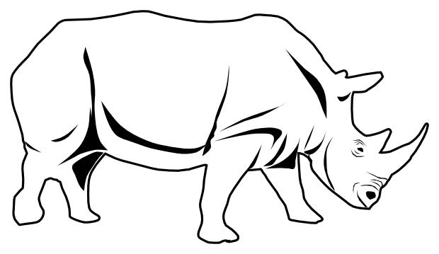 rhino outline.