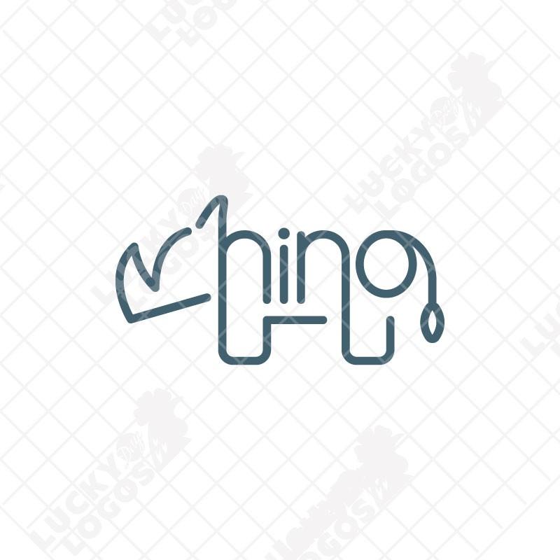 Rhinoceros Logo Design for sale.