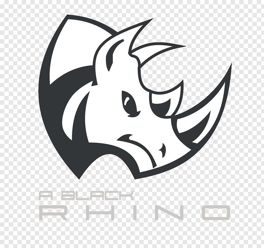 A Black Rhino logo, Rhinoceros Drawing, rhino free png.