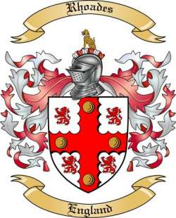Rhoades Family Crest from England by The Tree Maker.