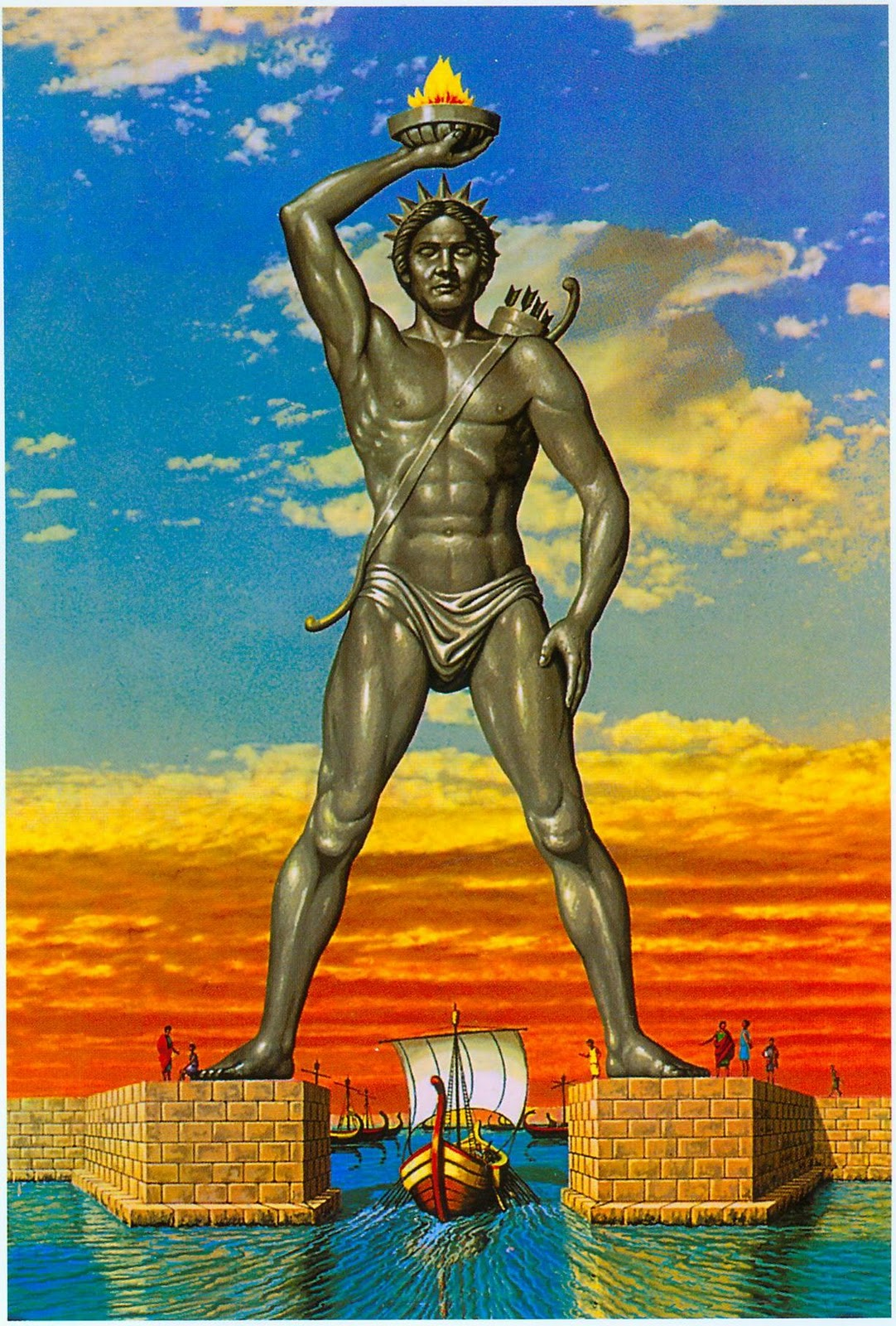 The colossus of rhodes clipart.