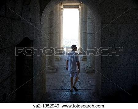 Stock Photograph of Rhodes Memorial pillars and archway in Cape.
