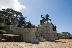 Bronze Statue, Rhodes Memorial Stock Photo.