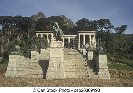 Stock Photographs of Memorial to Cecil Rhodes.