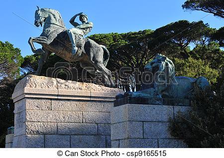 Stock Images of Rhodes Memorial on Devil's Peak in Cape Town.