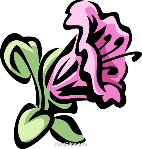 rhododendron Royalty Free Vector Clip Art illustration.