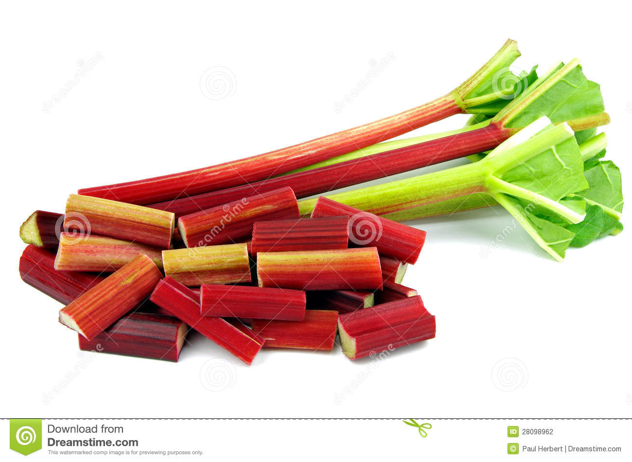 Diced Rhubarb Royalty Free Stock Images.