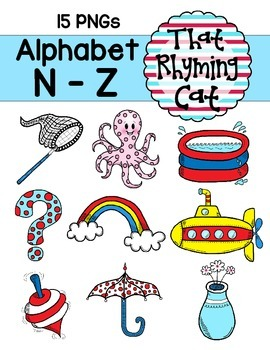 alphabet clipart: that rhyming cat_N to Z.