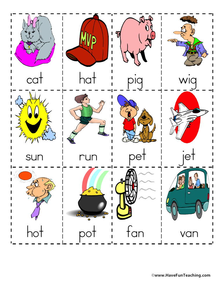 Rhyming Words Matching Activity.