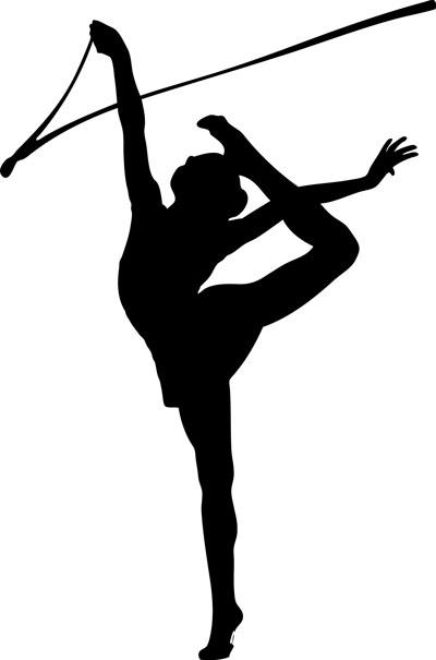 Rhythmic gymnastics clipart ribbon.