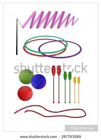 Rhythmic Gymnastics Stock Images, Royalty.